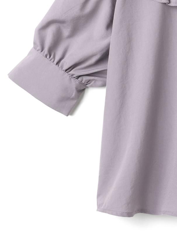 フリルビッグ襟ブラウス