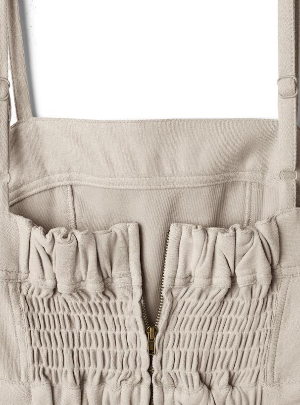 バックシャーリングマーメイドジャンパースカート