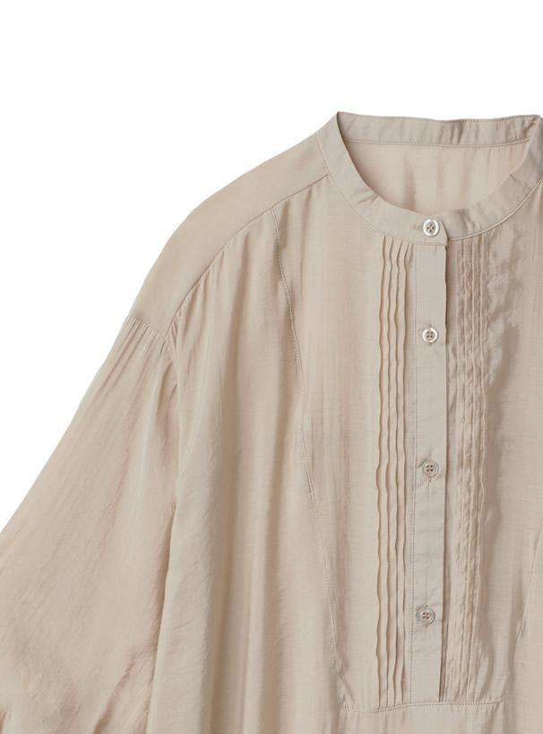 シアーサイドスリットリボンシャツ
