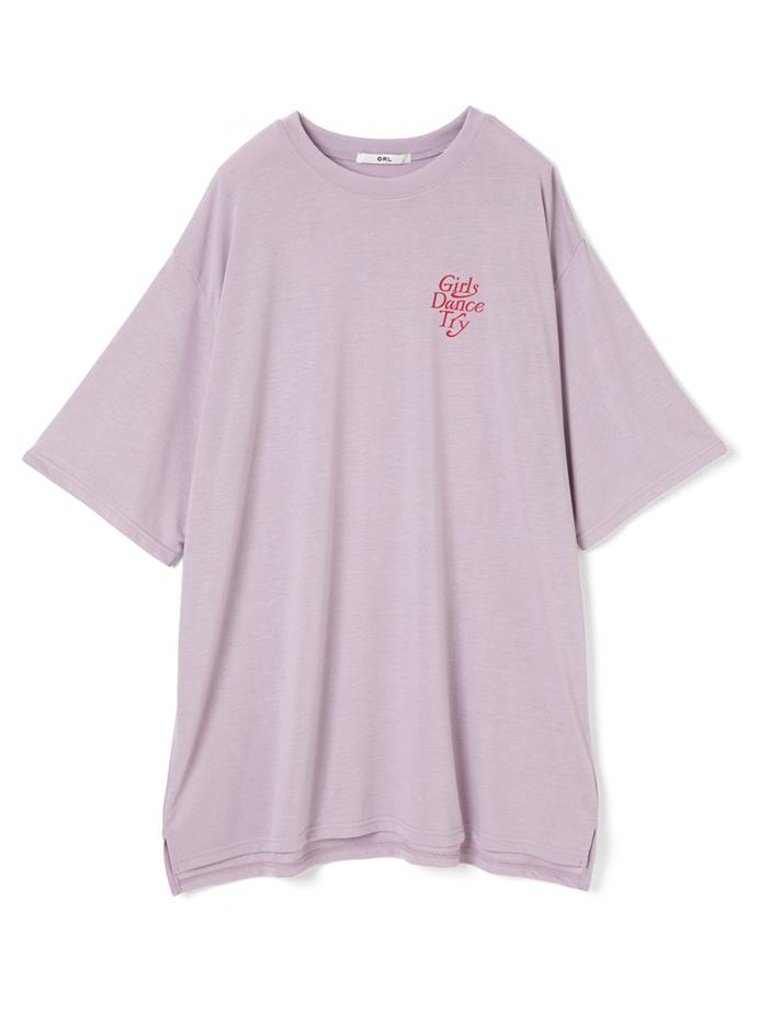 バックロゴプリントTシャツワンピース