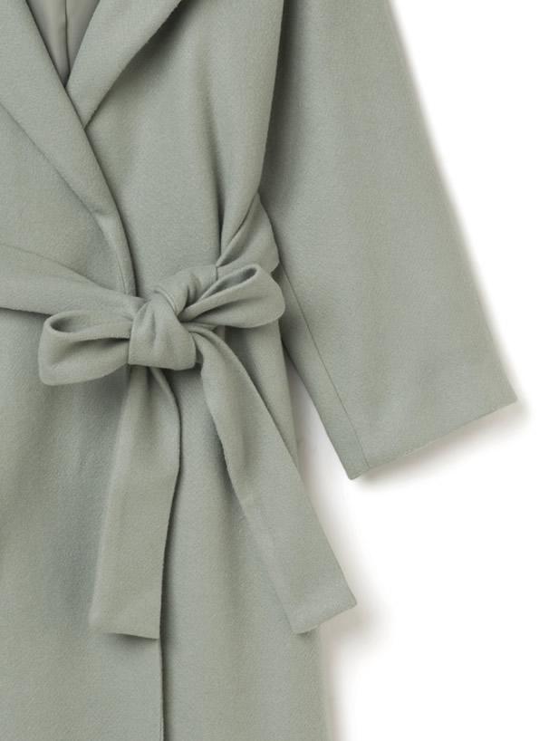 白石麻衣 リボンベルト付フーテッドロングガウンコート