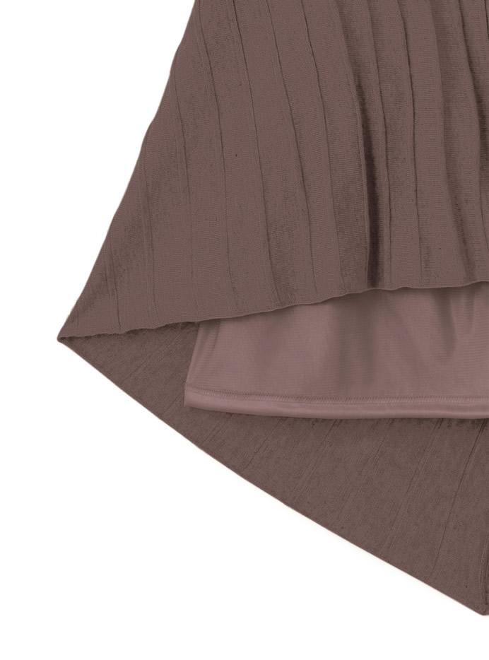 ラップデザインプリーツニットスカート