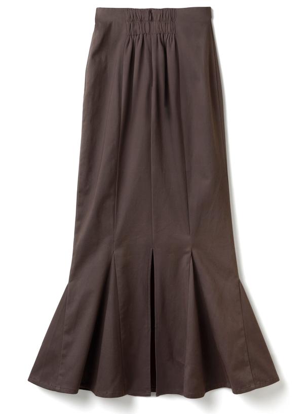 ハイウエストマーメイドツイルスカート