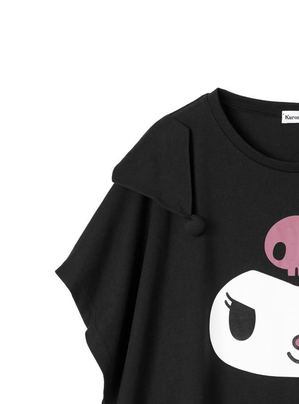 サンリオコラボ クロミビッグシルエットバックロゴTシャツ