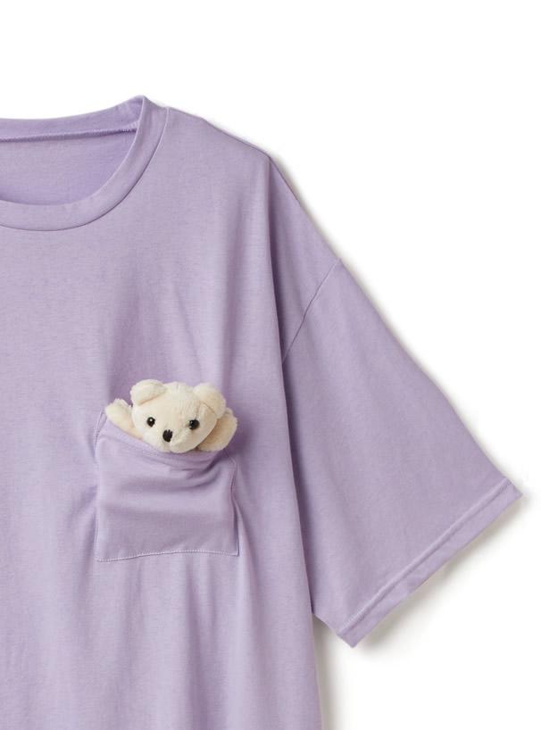 テディベア付きTシャツ