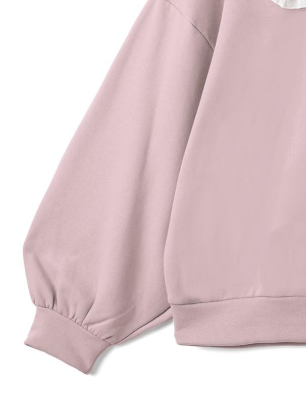 サンリオコラボ マイメロディ刺繍ビッグカラーフリルリボンスウェット