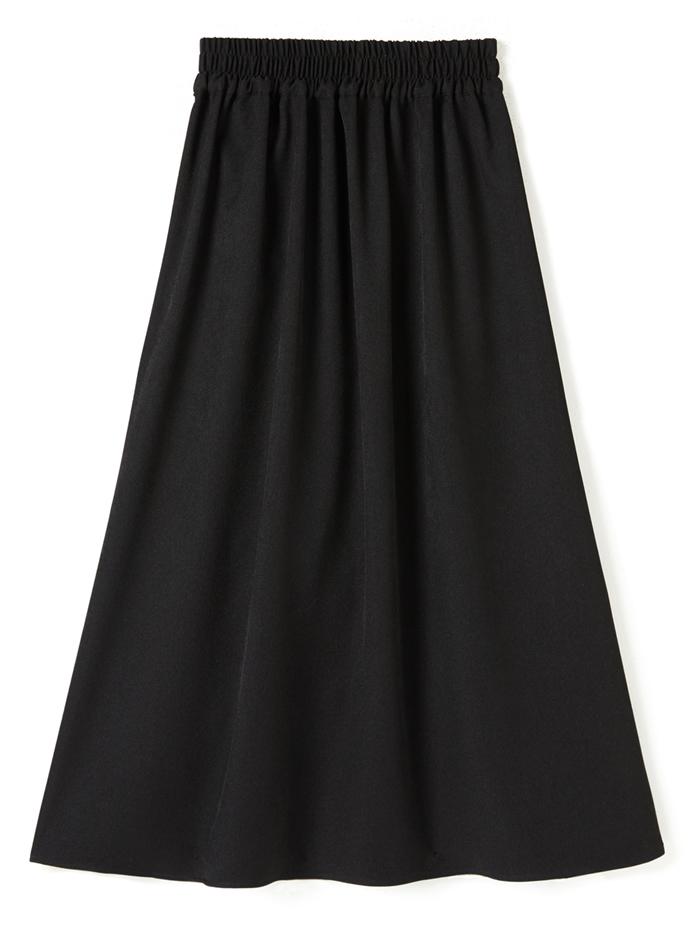 リボンベルトデザインレオパード柄プリーツ切り替えスカート