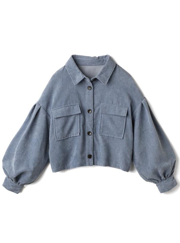 コーデュロイボリュームスリーブショートシャツジャケット