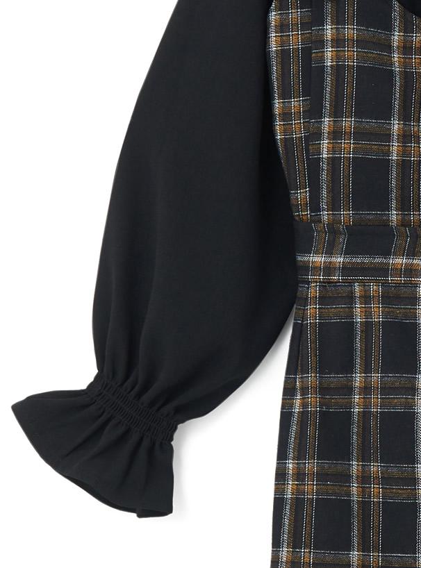 ブラウスXベルト付きマーメイドジャンパースカートセット