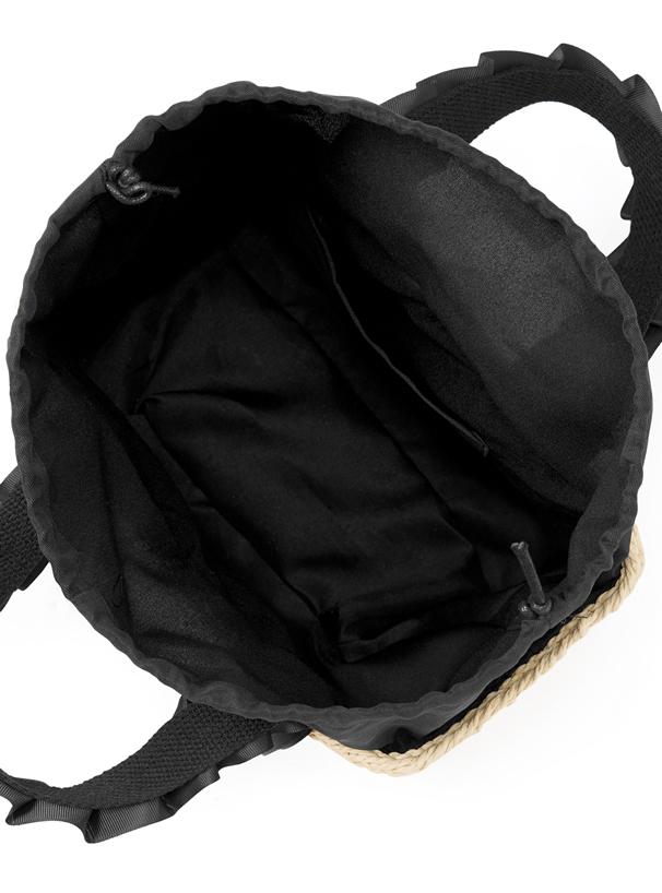 リボンギャザーペーパーカゴバッグ