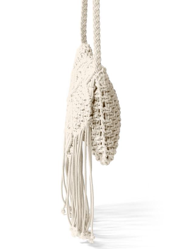 クロシェ編みショルダーバッグ