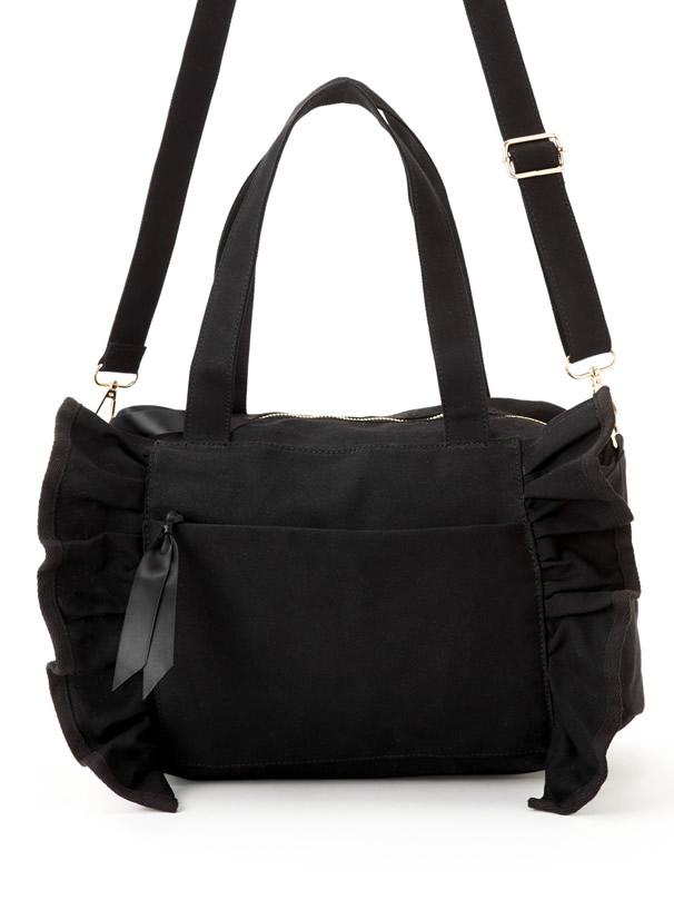 2Wayフリルキャンバスバッグ