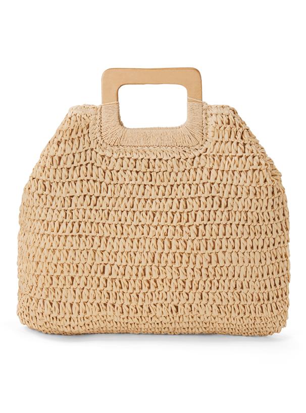 編み込みスクエアハンドルバッグ