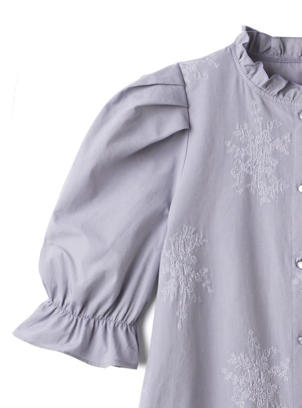 刺繍パワショルブラウス