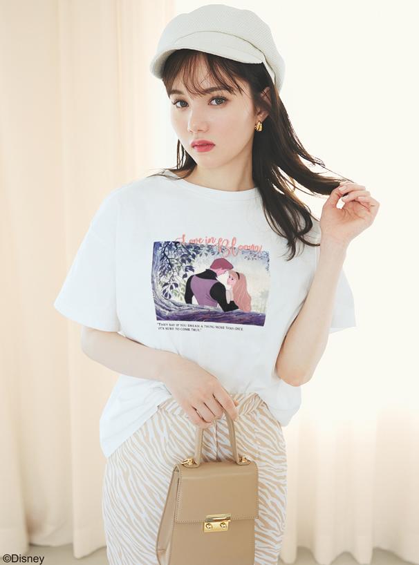 GRL ディズニープリンセスシリーズ オーロラ姫/プリントTシャツ
