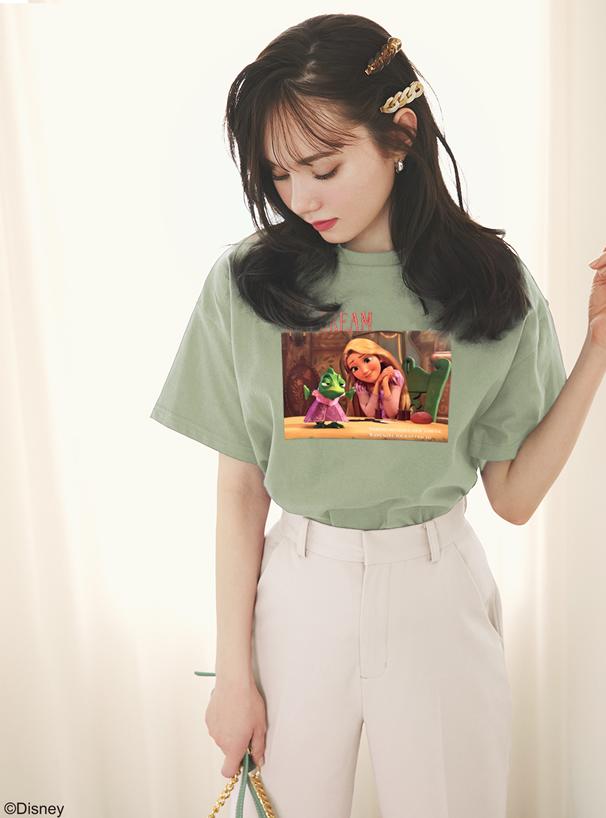 GRL ディズニープリンセスシリーズ ラプンツェル/プリントTシャツ