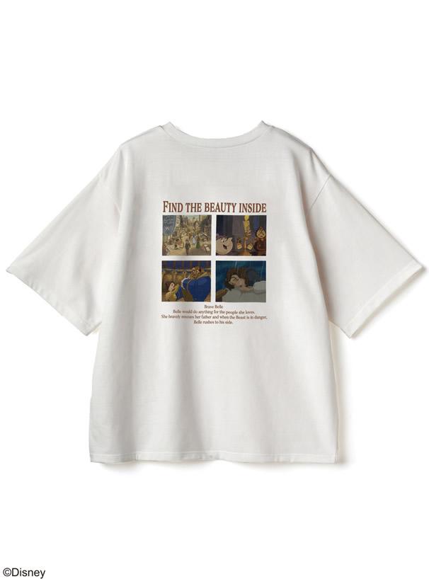 GRL/ディズニープリンセスシリーズ ベル/プリントTシャツ