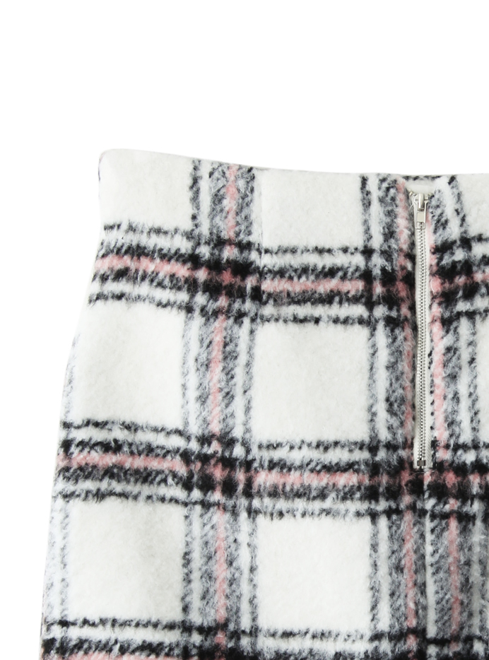 チェックシャギータイトスカート