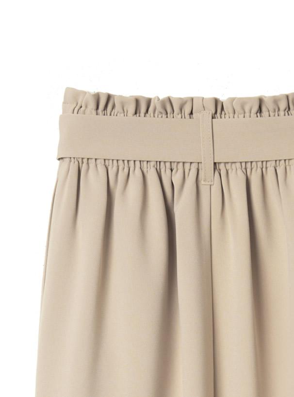 ベルト付きナロースカート