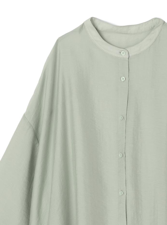 バンドカラービッグシアーシャツ