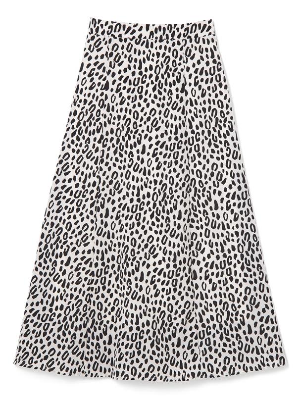 レオパード柄フレアスカート
