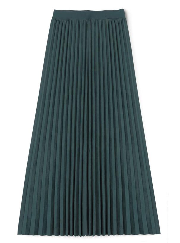 スエードプリーツスカート
