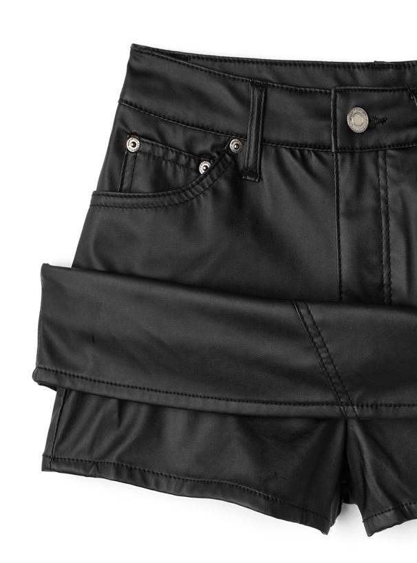 レザースカートパンツ