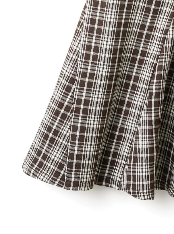 チェック柄ハイウエストマーメードスカート