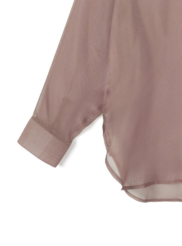 バックスリットシアーシャツ