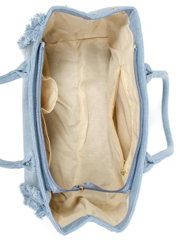 フリンジキャンバスバッグ