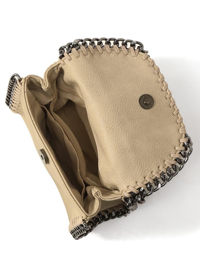 チェーンフラップショルダーバッグ
