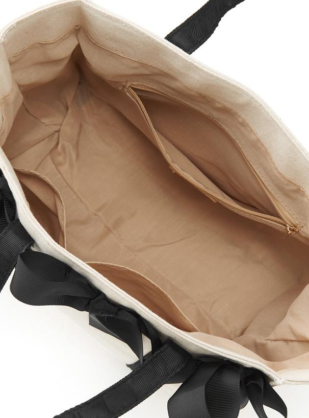 リボンキャンバストートバッグ