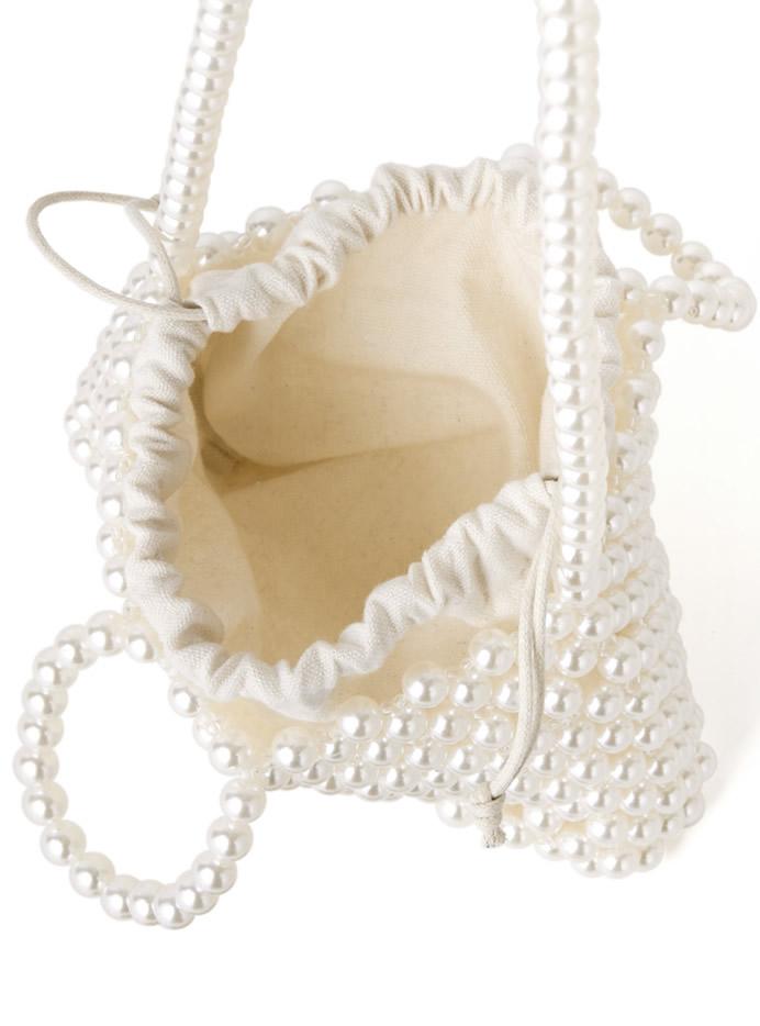 2way巾着付きパールバッグ