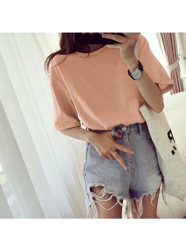 胸ポケット付きビッグTシャツ