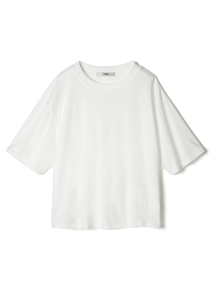 ラウンドネック5分袖Tシャツ