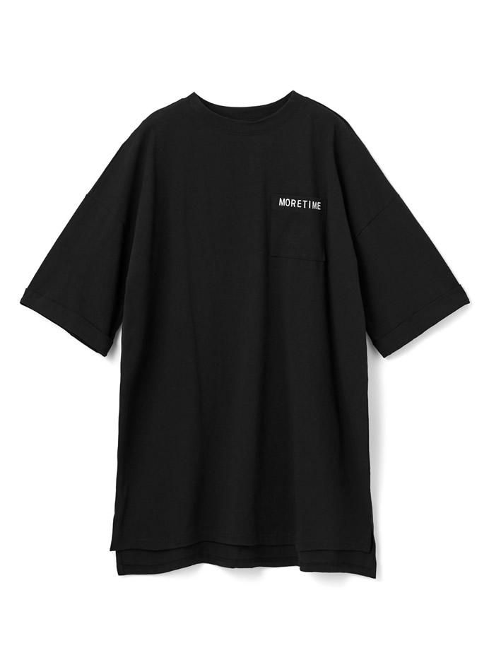 ポケット付ロゴビッグTシャツ