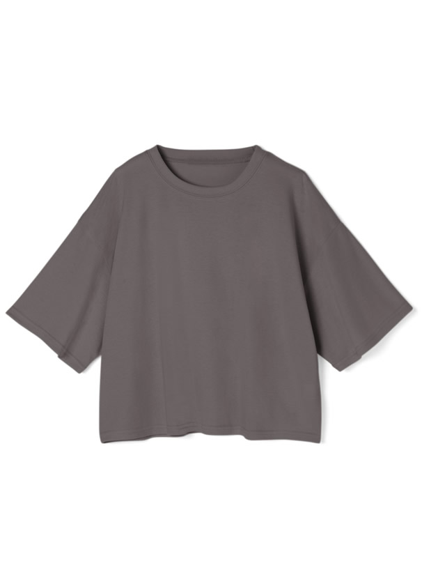 ベーシックコットン5分袖Tシャツ