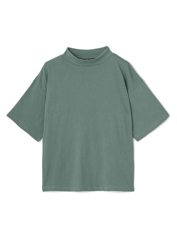 ハイネックコットンTシャツ