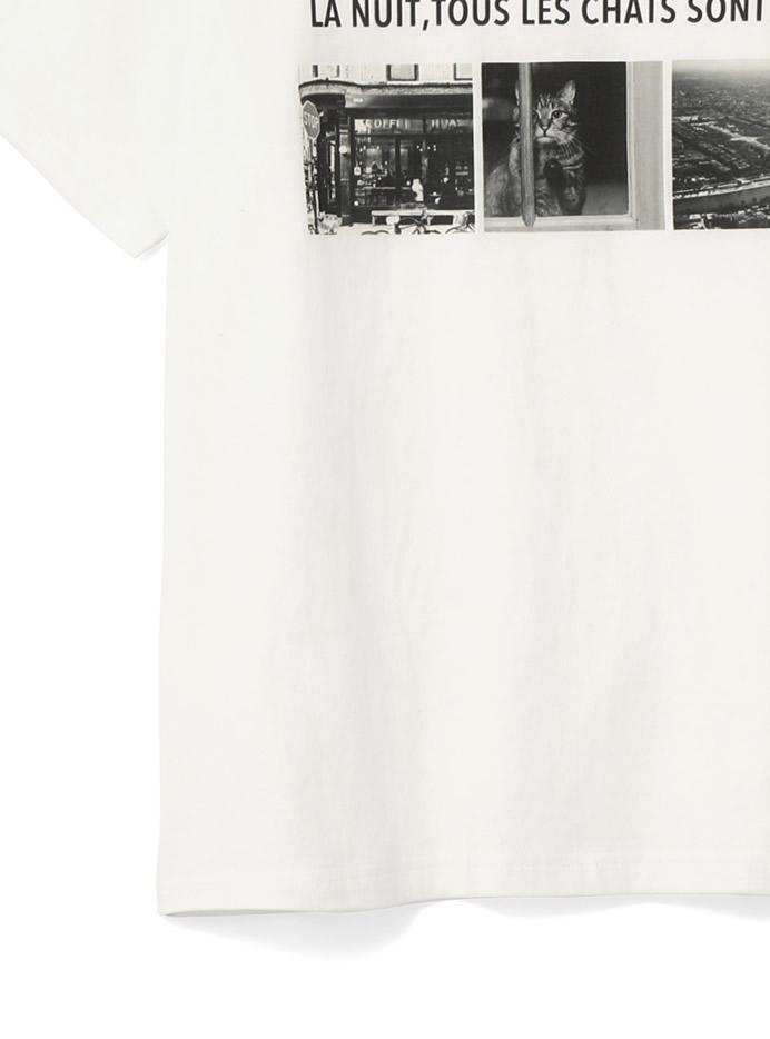 モノトーンフォトロゴTシャツ