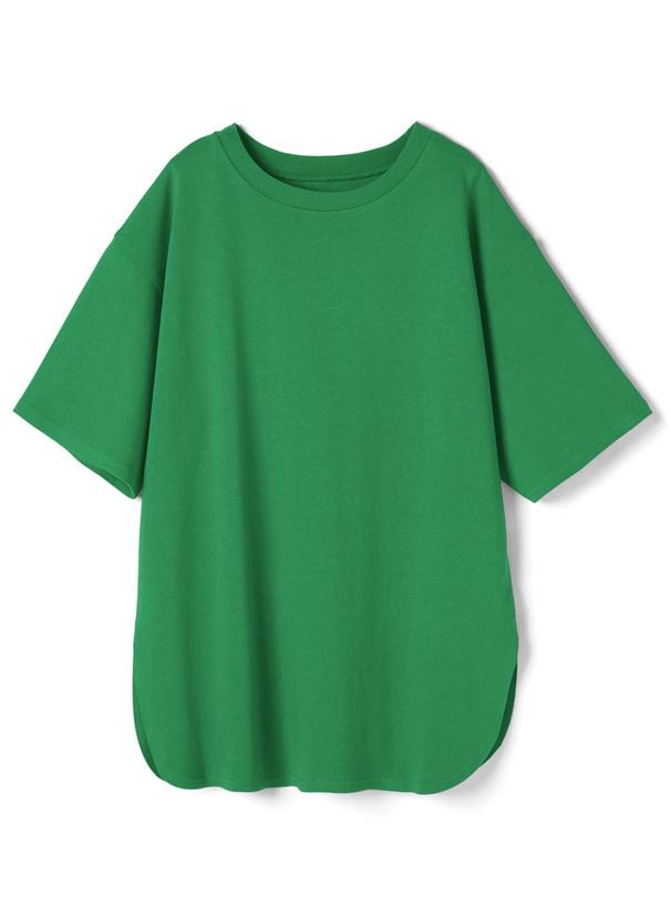 オーバーサイズラウンドヘムTシャツ
