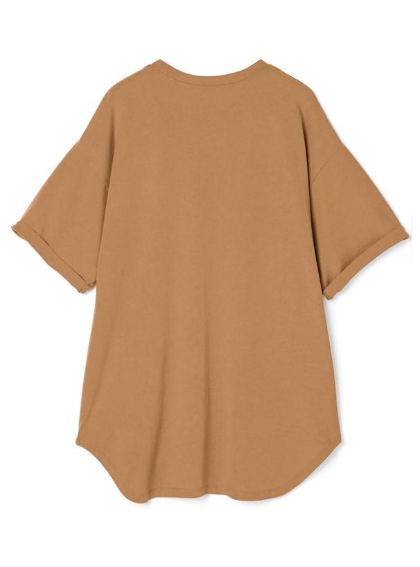 ビッグシルエットロールアップTシャツ