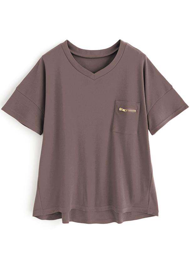 ジップポケットTシャツ