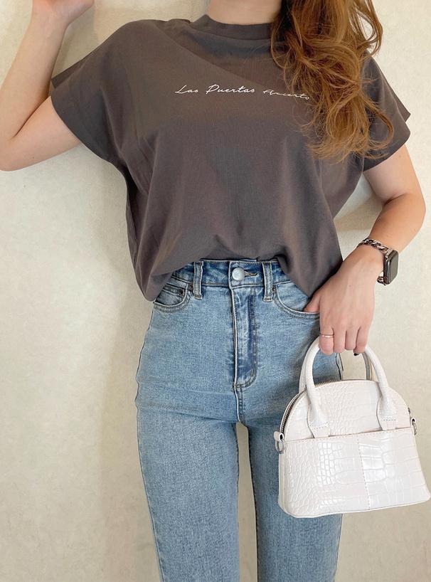 フレンチスリーブロゴTシャツ
