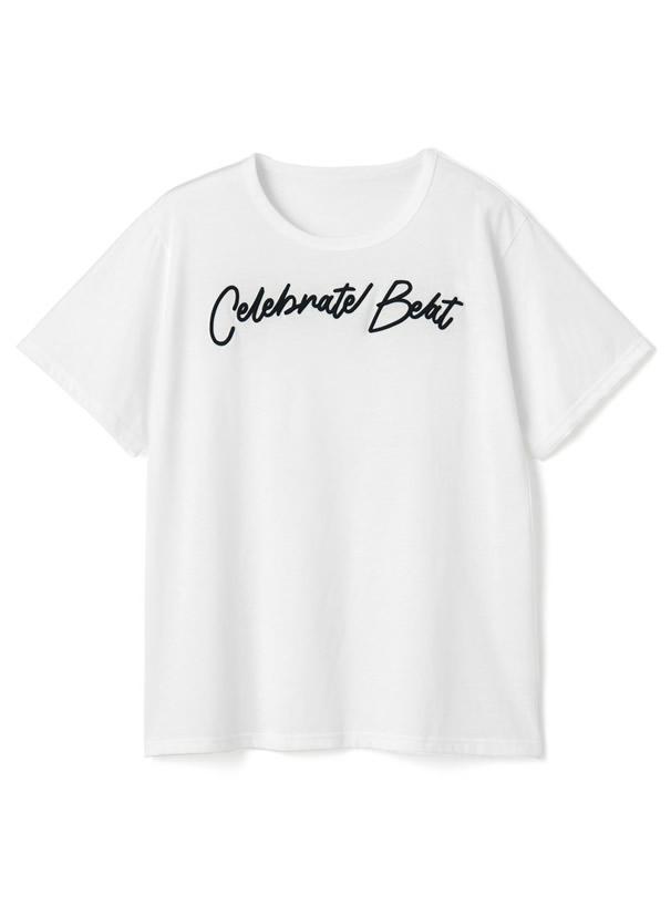 立体刺繍ロゴ入りBIGシルエットTシャツ