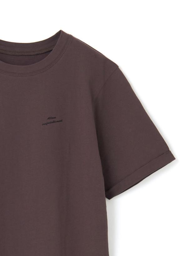 フロントロゴバックフラワープリントTシャツ