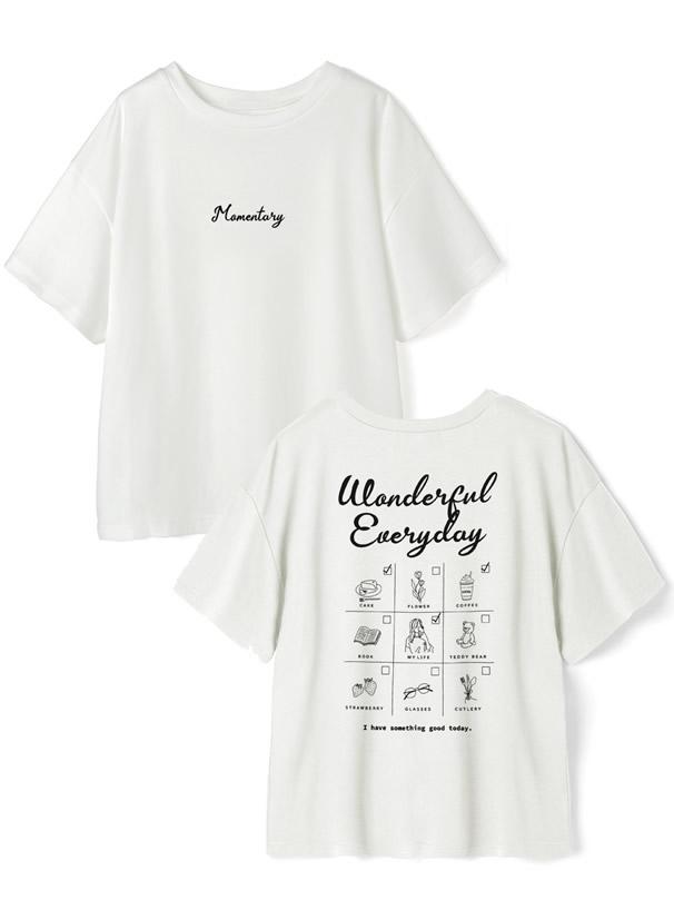 バックイラストロゴプリントTシャツ