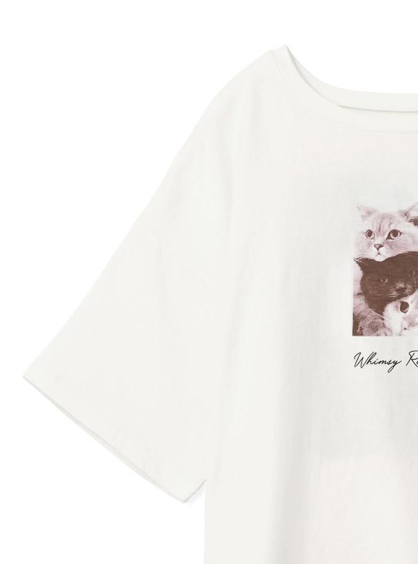 キャットプリントTシャツ