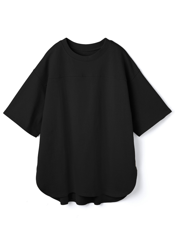 ラウンドヘムTシャツ