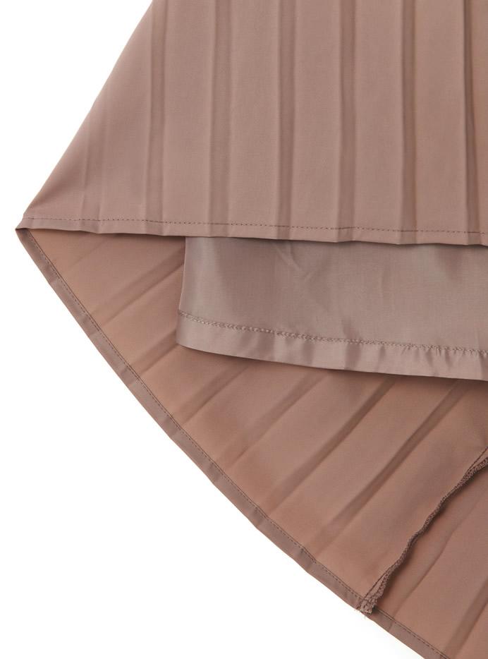 配色プリーツスカート