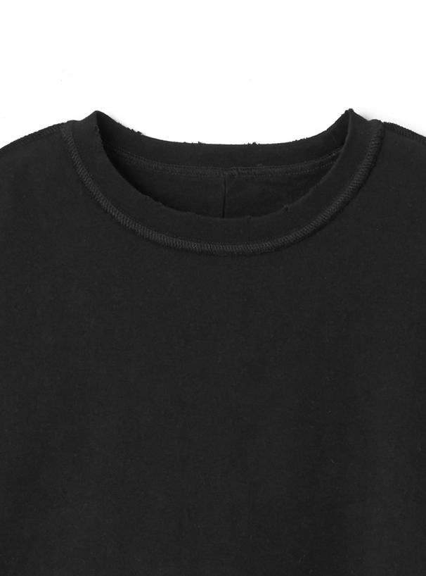 ランダムカットオフヘムアウトシームTシャツ